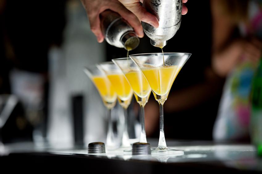 Cocktails on bar